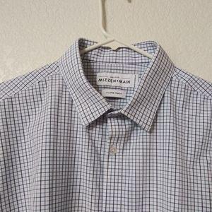 Mizzen+Main XL Trim Fit Blue Dress Shirt